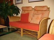 Rattan Sitzgruppe 2 kleine Sofas