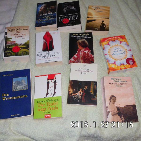 11 Romane 1 mal gelesen