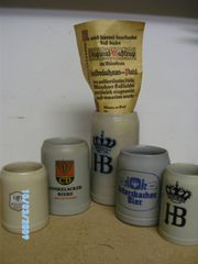 5 interessante Bierkrüge