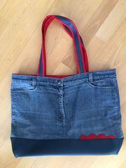 Große Jeans-Tasche