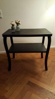 Alter Tisch Beistelltisch schwarz lackiert