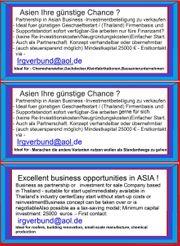 Günstiger Einstieg ins Asien- Business