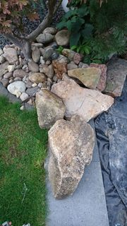 Steine für Teich und Garten