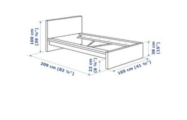 Bett Ikea Malm 90x200