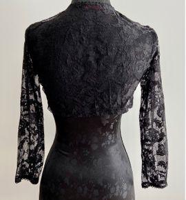 Damenbekleidung - Bolero mit Spitze - Einheitsgröße