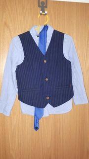 Kinder Hemd Weste Krawatte 110