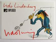 UDO LINDENBERG handsignierte Autogrammkarte MTV