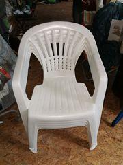 Gartenstühle weiß 4 Stück
