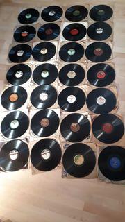Schellack-Platten Sammlung 29 Stück