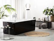 Badewanne freistehend schwarz rechteckig RIOS