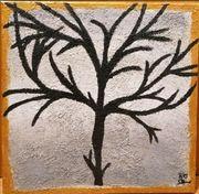Acrylmalerei Baum auf Leinwand 40x40cm