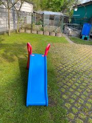 BIG Kinder Rutsche - Blau Rot