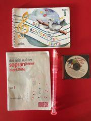 Blockflöte mit 2 Heften CD