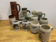 alte Bierkrüge Krüge Sammlung Konvolut