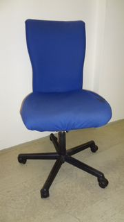 gebrauchter Vitra Drehstuhl blau