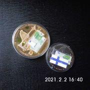 2 Medaillen 100 Euro Schein