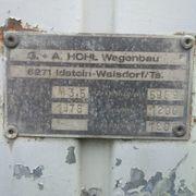 Betriebserlaubnis Hohl Bauwagen Zapp Achse