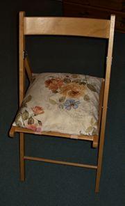 Klappstuhl mit Sitzkissen Einzelstück