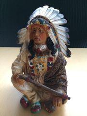 Indianer Keramik 12x9cm Höhe 15cm