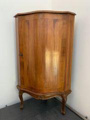 Antikes Eck-Kästchen Biedermeier-Stil Hartholz