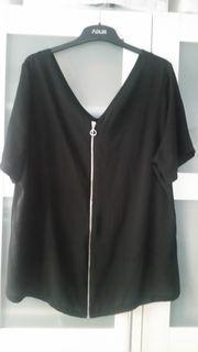 Bluse schwarz Kurzarm