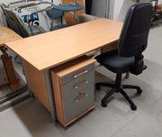 Schreibtisch Bürostuhl Rollcontainer