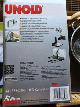 Unold 78856 Allesschneider Kompakt mit: Kleinanzeigen aus Kreimbach-Kaulbach - Rubrik Haushaltsgeräte, Hausrat, alles Sonstige