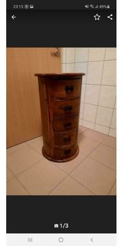 Holzkommode rund Durchmesser 40 cm