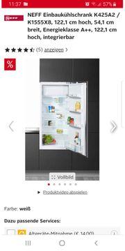NEFF Integrierter Kühlschrank K425A2 Einbaukühlschrank