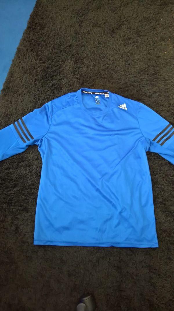 Adidas Climalite Herren Langarmshirt blau Größe L in