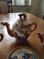 Teeservice hauchdünnes Porzellan japan oder