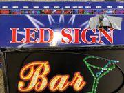 Neon- Lichtschild- Bar