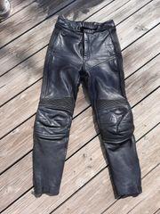 Motorradhose Leder schwarz