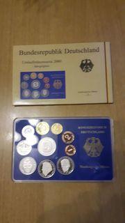 Umlaufmünzenserie 2000 Spiegelglanz Münze J