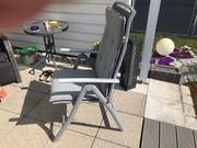 Gartensessel Aluminium grau mit Sitzauflage