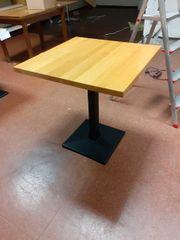 3 Tische 70x70cm Gußfuß