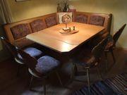 Hochwertige Echtholz Eckbank 4 Stühle