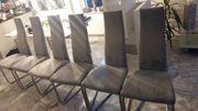 Esszimmerstühle 6 Stück Mikrofaser