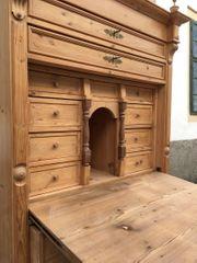 Schreibschrank Vintage Naturholz Sekretär Landhausmöbel