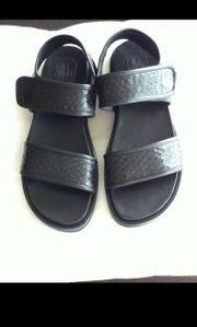 Leder-Sandale