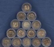 Diverse 2 Euro Gedenkmünzen - Luxemburg -