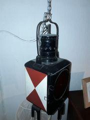 Alte Bahnlampe antik