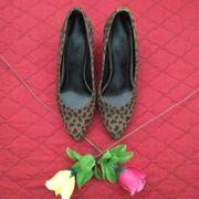 Damen - Leoparden Pumps Braun Schwarz