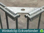 50x Winkelclips für Gabionensäulen Eckverbinder