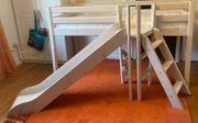 Kinderbett Hochbett mit Rutsche und
