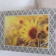 Wunderschönes Sonnenblumen Glasbild