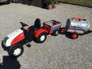 Kinderspielzeug - Traktor mit Anhänger und