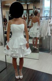 Designer-Hochzeitskleid kurz