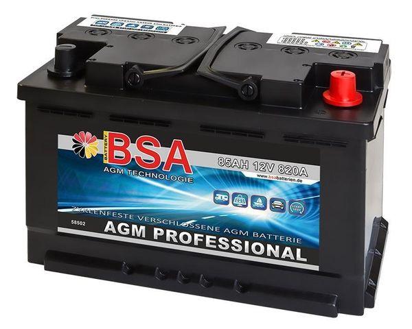AGM Solarbatterie 85Ah Autobatterie