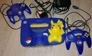 N64 - Pikachu Nintendo64 - 2 Controller -